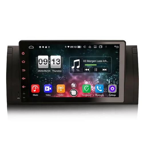 """9"""" android 10 bilstereo BMW X5,E39,E53"""
