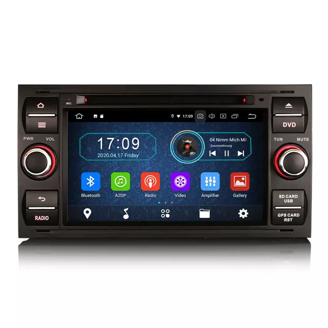 "7"" android 10, svart bilstereo Ford Fusion,Mondeo,s-max"