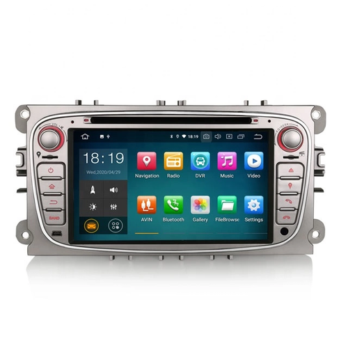 "7"" android 10, silver bilstereo Ford mondeo,c- max,fusion,S-max"