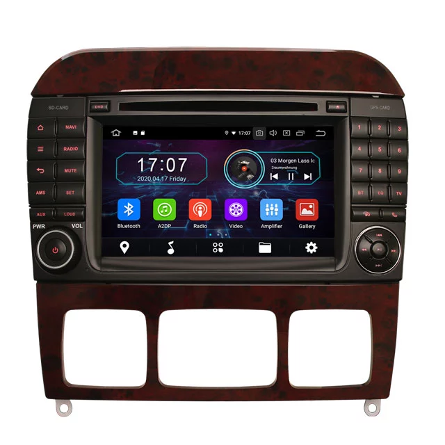 "7"" android 10,bilstereo Mercedes Benz S-klass, Cl- klass"