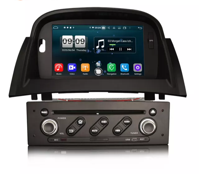 "7"" android 10, bilstereo Renault Megane II (2002-2008)"