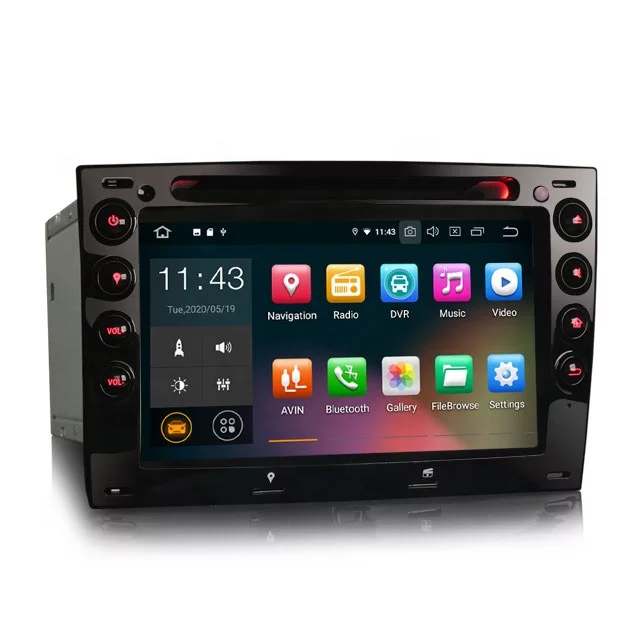 "7"" Android 10,bilstereo RENAULT MEGANE 2003-2010"