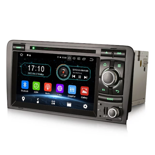 """7 """"android 10,bilstereo AUDI A3 (2003-2011)"""