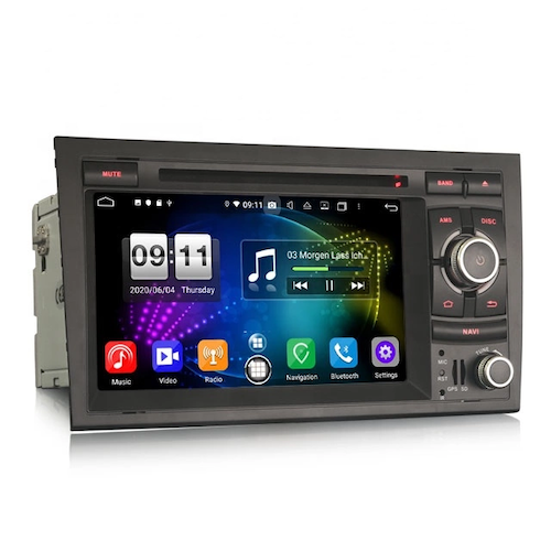 "7"" Android 10, bilstereo AUDI A4 (2002-2007) S4 RS4 B9 B7"
