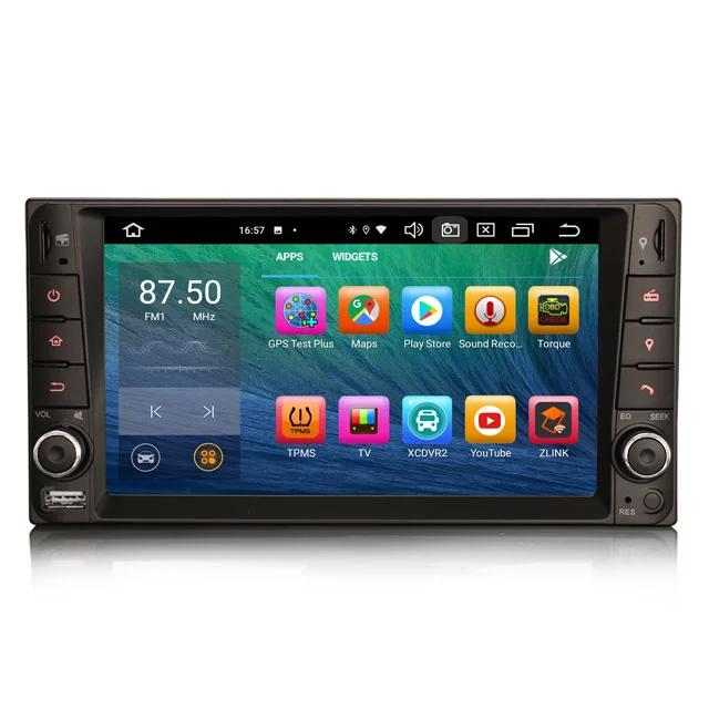 "7"" Android 10,bilstereo Toyota Rav4,Hilux,Land Cruiser,Avanza"