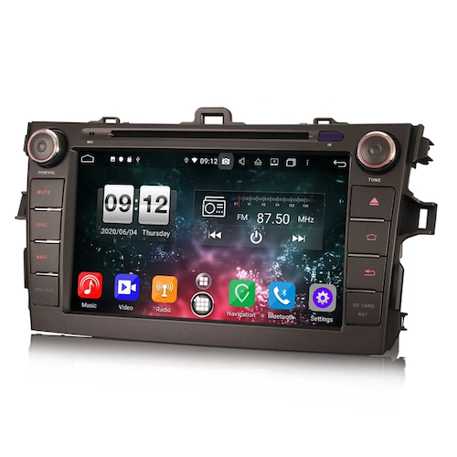 "7"" Android 10,bilstereo Toyota auris ,Corolla"