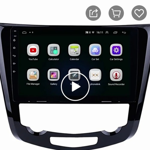 "10,1"" Android 10, bilstereo,gps,radio,wifi, Nissan QashQai, X-trail(2013---2016)"