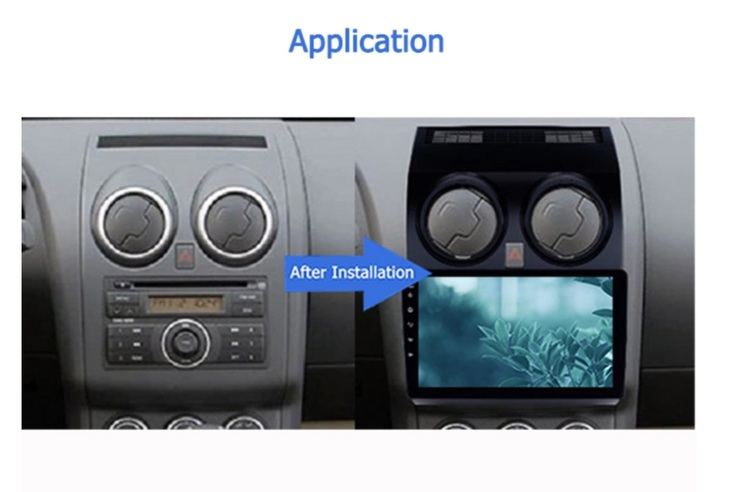 "9"" android 10, bilstereo gps, wifi,Nissan QashQai (2005---2018)"
