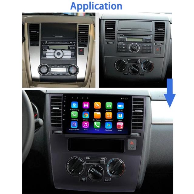 "9"" ansroid 10, bilstereo ,gps,wifi, NissanTiida(2005----2010)"