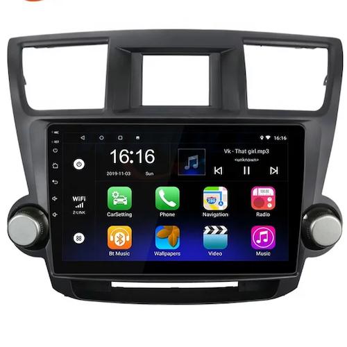 """10"""" Android 10, bilstereo Mitsubishi Highlander (2009---2015)"""