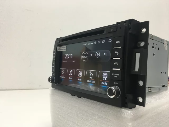 """7"""" android 10, bilstereo Hummer H3 (2006---2009)"""