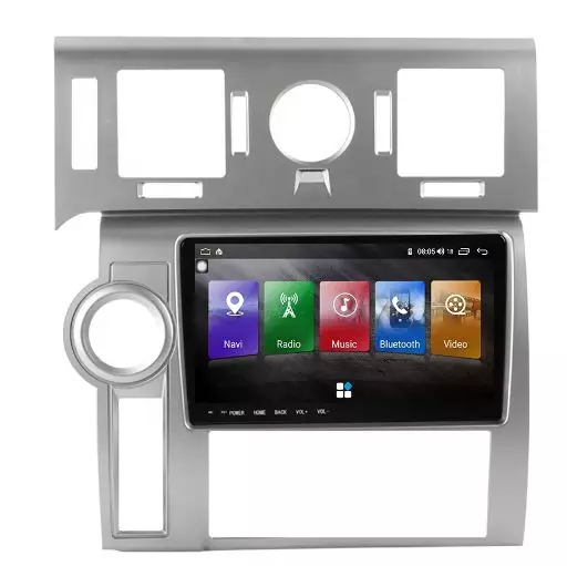 """9"""" android 10, bilstereo Hummer H2 ,2008( silver panel )"""