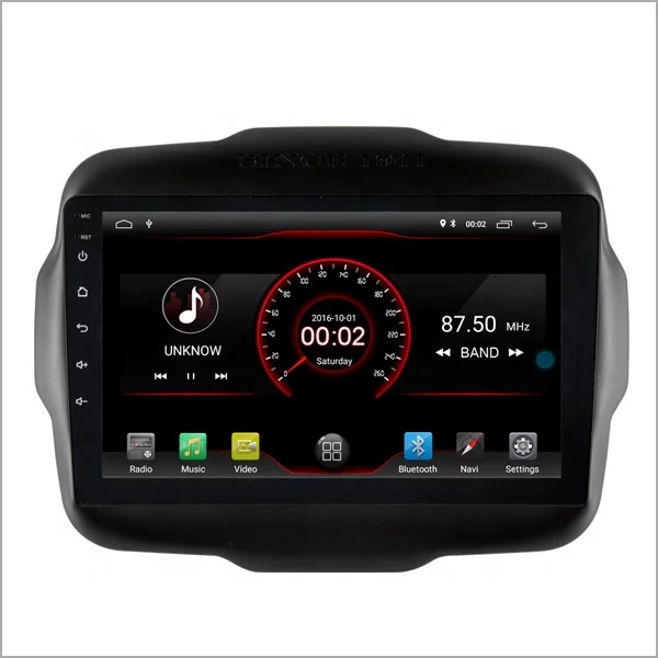 """9""""android 10, bilstereo Jeep Renegade(2016--2018)"""