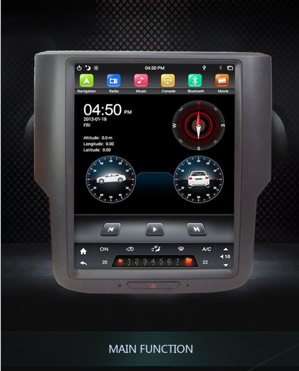 "10,4""android 10, bilstereo Dodge Ram1500,Ram 2500 (2014--2018)"