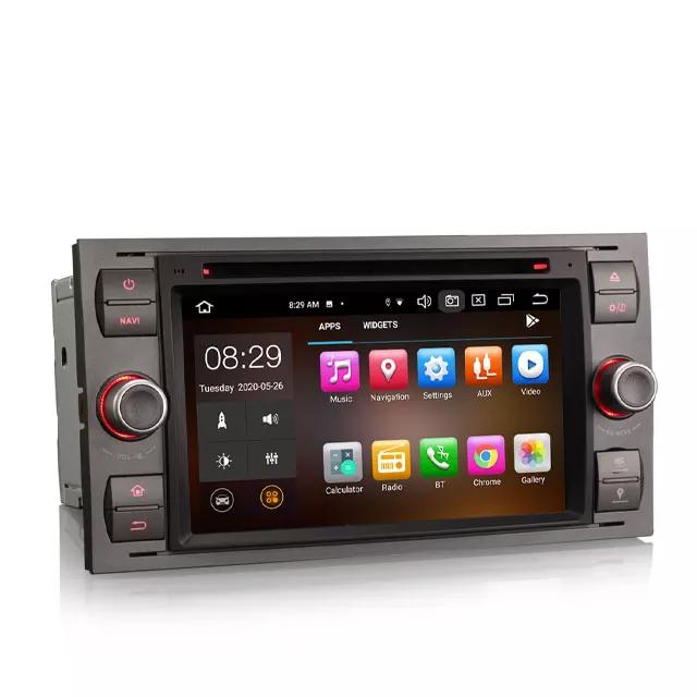 """7"""" android 10, grå bilstereo Ford kuga,Mondeo,Fusion"""