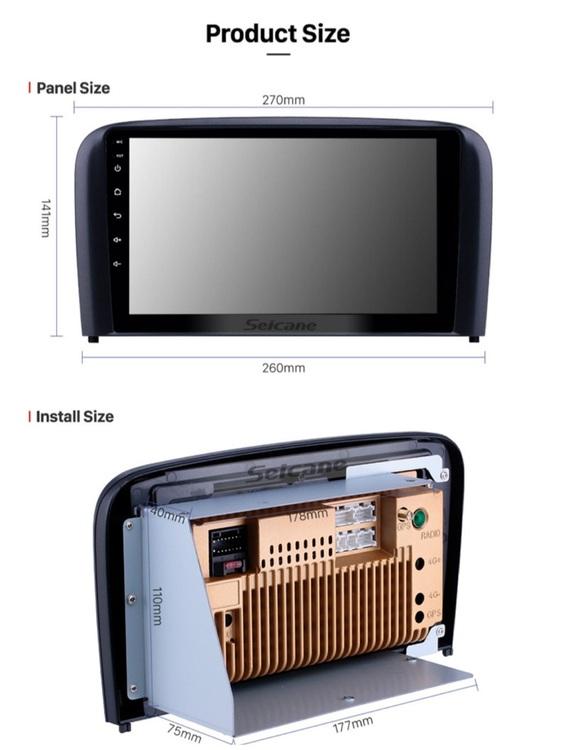 "9"" android 10, bilstereo VOLVO S80 (2004---- 2006) ,gps,wifi,backamera"
