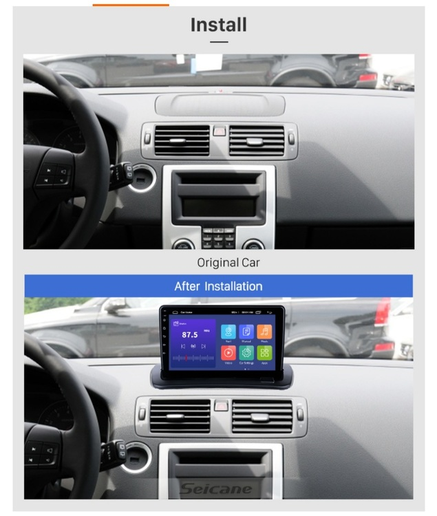 """9"""" android 10,bilstereo Volvo S40(2012),Volvo C30(2006---2013),volvo C70(2004--2010),gps,wifi,backkamera"""
