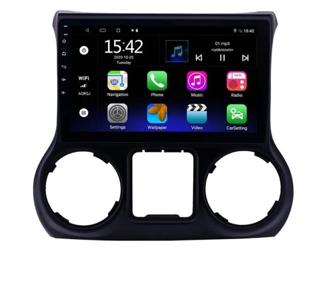 """10,1"""" android 10,bilstereo Jeep Wrangler (2015--2017) ,gps, Wi-Fi, 64gb,backkamera"""
