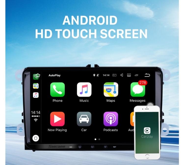 """9"""" android 10, bilstereo  Skoda Octavia (2004--2008),wifi gps"""
