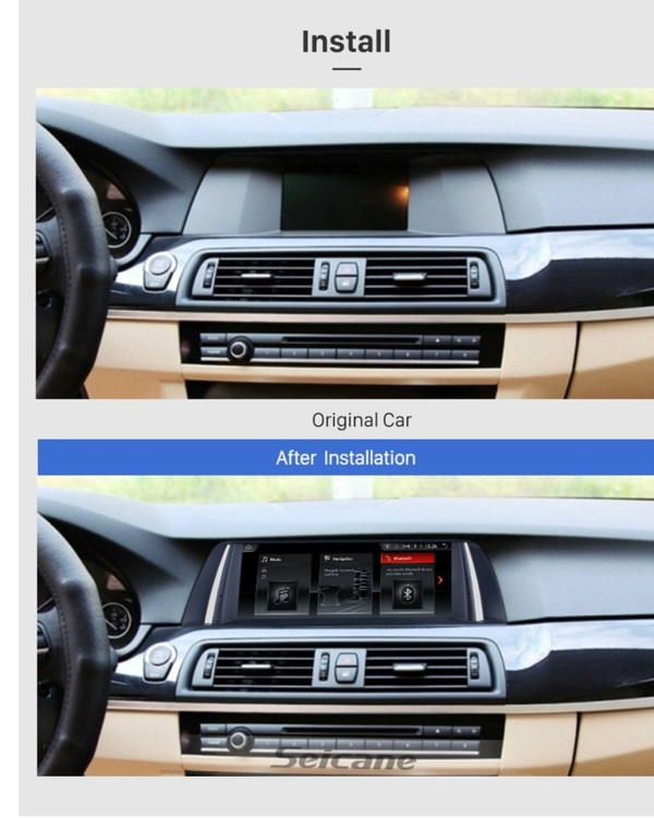 """10.25 """" android 10,bilstereo  BMW  5 series F10,F11(2013--2016) GPS, WIFI, 32GB"""