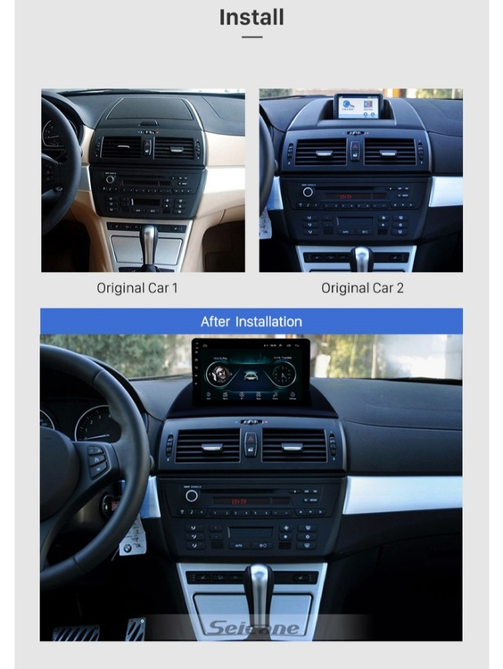 """9"""" android  10,bilstereo BMW X3,E83 (2004--2012) GPS,WIFI,32GB"""