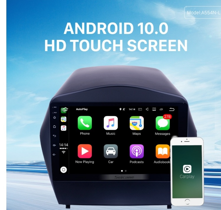 "9""android  10,bilstereo Hyundai  ix35(2010---2017) gps, wifi, 32GB"