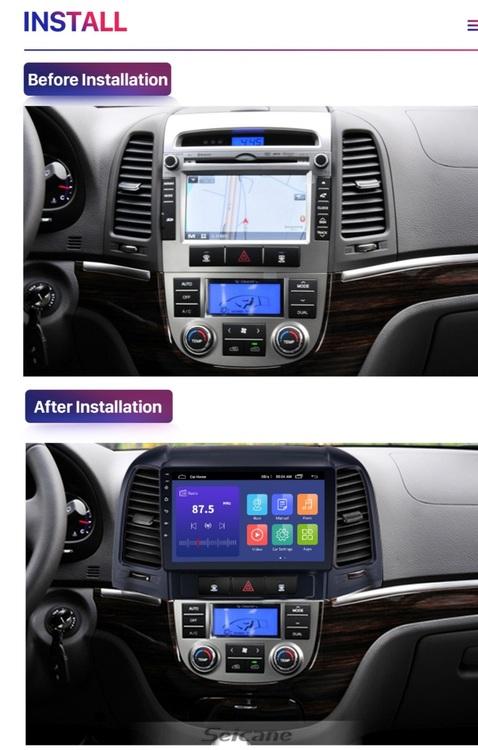 "9""android  10,bilstereo Hyundai santafe 3 generation,gps, wifi,32GB"