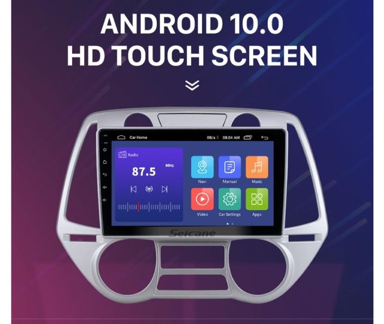 """9""""android  10, bilstereo  Hyundai  i20 ( 2008---2012) gps,wifi,32GB"""