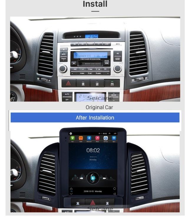 "9,7"" android  10,bilstereo Hyundai  santafe (2005--2012),gps, wifi, 32GB"