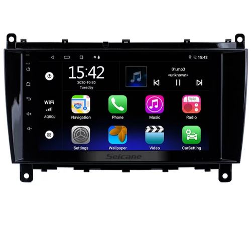 """8""""android 10,bilstereo Mercedes Benz CLK w209 ( 2004---2012) gps, wifi, 32GB"""