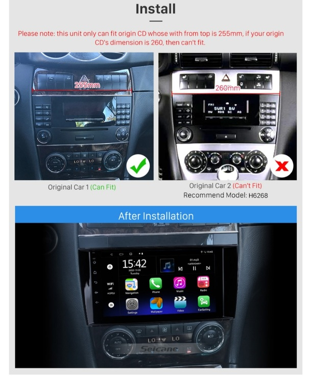 """8""""android  10 ,bilstereo Mercedes Benz CLS w219 (2004--2008) gps,wifi, 32GB"""