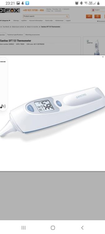 Sanitas SFT 65-termometer