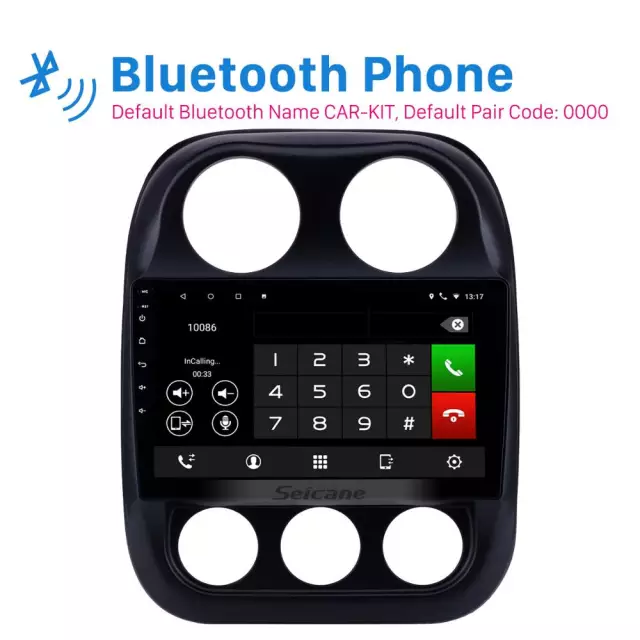 Android 10, bilstereo Jeep compass (2010--2016)