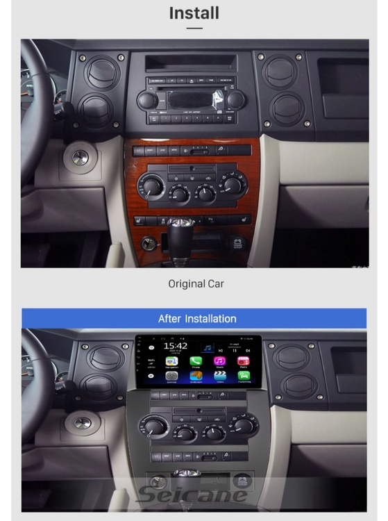 """9""""android  10,bilstereo  Jeep  commander (2007--2008),wifi, gps,32GB"""