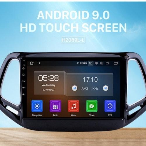 Android 10, bilstereo Jeep cherokee 5 (2014--2018)