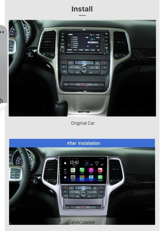 "9""android  10, bilstereo  Jeep  grand cherokee ( 2008--- 2012) gps,wifi, 32GB"