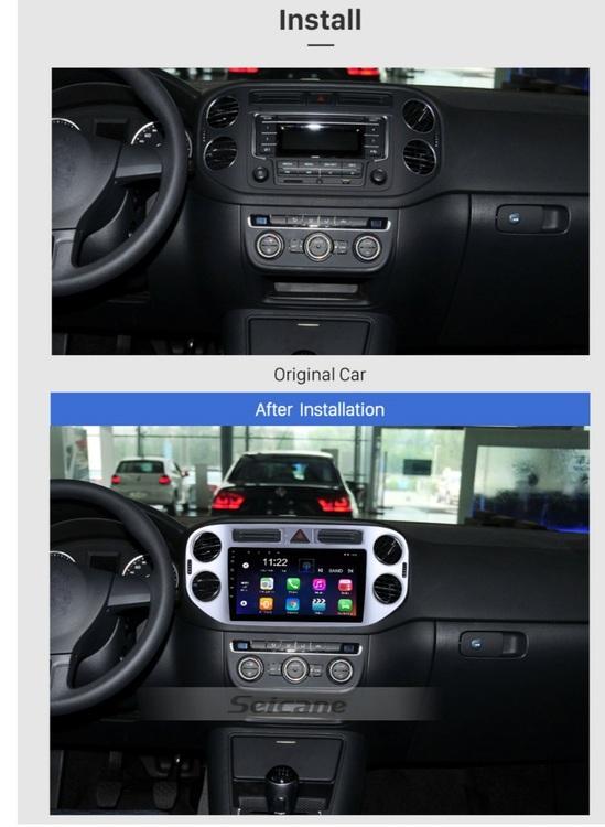 "9""android  10, bilstereo vw tiguan (2010---2015) gps, 32GB, wifi"
