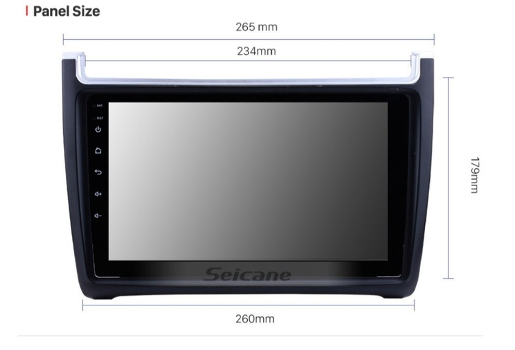 """9""""android  10, bilstereo vw Polo (2012-- 2015),gps, 32gb"""