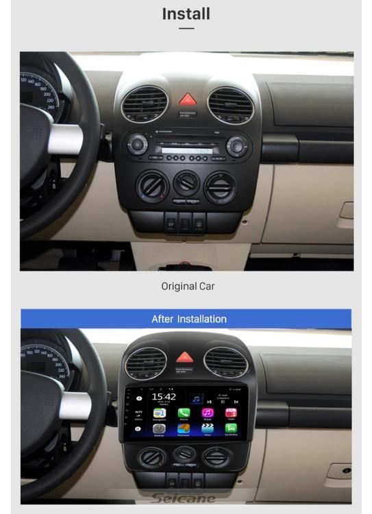 "9""android  10,bilstereo vw beetle år 2010,gps, wifi, 32GB"