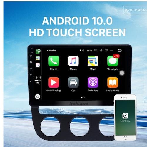 "10,1"" android  10, bilstereo  vw sagitar auto A/C (2007-2010) gps, wifi, 32GB"
