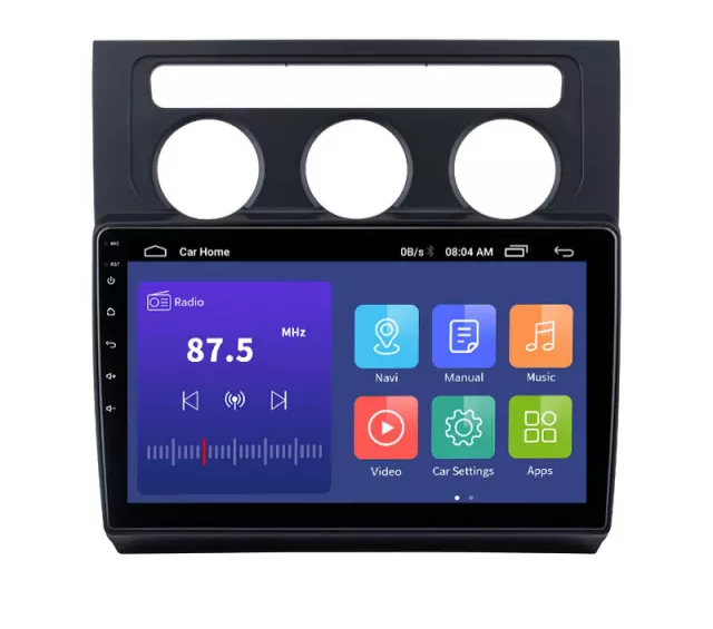 """10,1""""android  10,bilstereo ve Touran manuell A/C (2004---2008) gps,wifi, 32GB"""