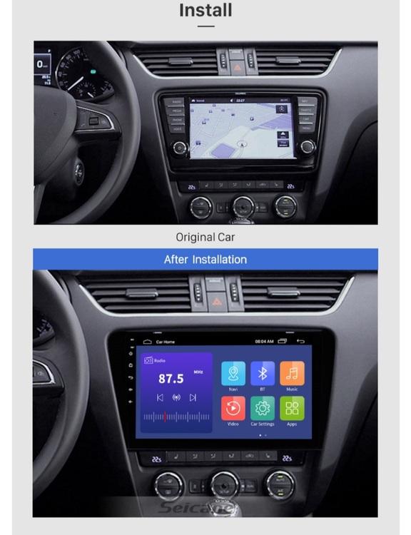 """10,1"""" android  10,bilstereo Skoda  Octavia (2015---2017), gps, wifi, 32GB"""