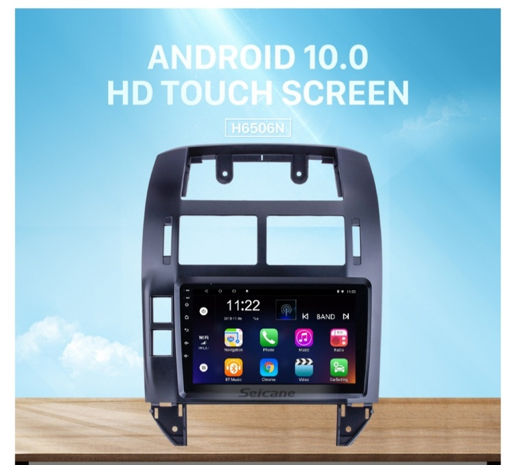 """9""""android  10,bilstereo vw  Polo (2004---2011) gps, wifi, 32GB"""