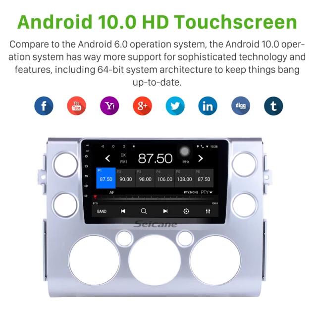 "9""android 10,bilstereo Toyota FJ cruiser (2007---2018),gps, wifi, 32GB"