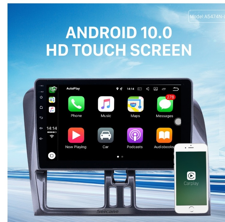 """9"""" android 10, bilstereo Volvo xc60 ( 2008----2016) gps, wifi, 32GB"""