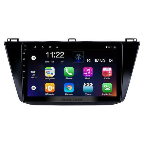 "10,1"" android  10, bilstereo  vw tiguan  (2016--2018) gps, wifi, 32GB, blåtand"
