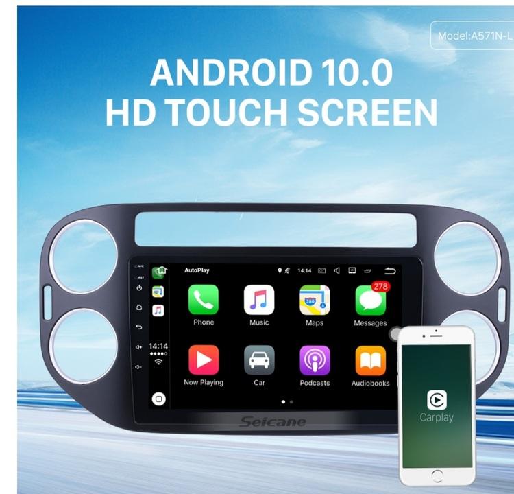 "9""android 10,bilstereo vw tiguan (2010---2015) gps, wifi, 32GB, blåtand"