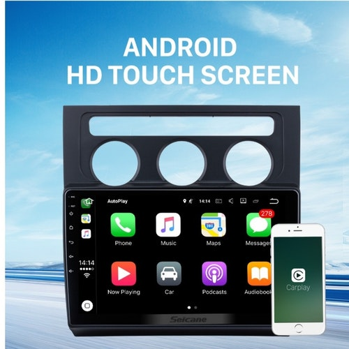"10,1"" android 10,bilstereo vw Touran A/c (2004--2008) gps, wifi, 32GB, blåtand"