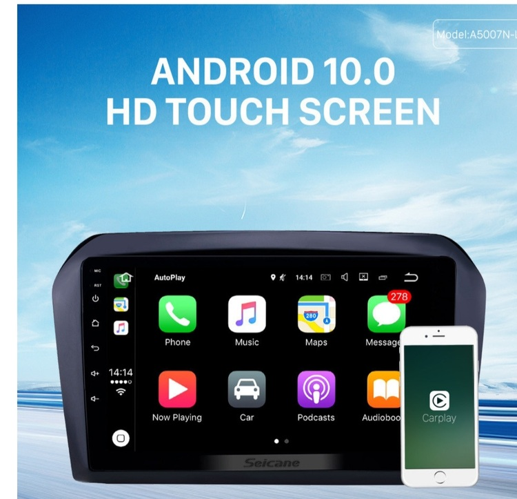"""9""""android 10, bilstereo vw Jetta (2013---2017) gps, wifi, 32GB, blåtand"""