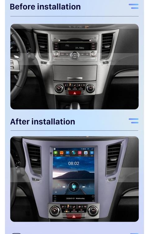 "9.7"" android 10, bilstereo Subaru outback(2010---2014) gps, wifi, 32GB, blåtand"